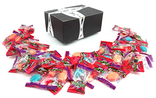 Frankford Halloween Gummy Body Parts Candy, 15.87 oz Bag (60 Pieces) in a BlackTie Box