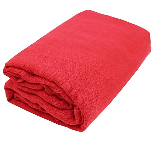 TiaoBug Newborn Baby Cheesecloth Wrap Cloth Blanket Photography Photo Props (Red, One Size)