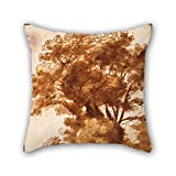 Oil Painting Claude Lorrain - Group Of Trees And Resting Sheperd Cushion Cases 18 X 18 Inches / 45 By 45 Cm Gift Or Decor For Sofa,floor,saloon,monther,living Room,birthday - Twin Sides