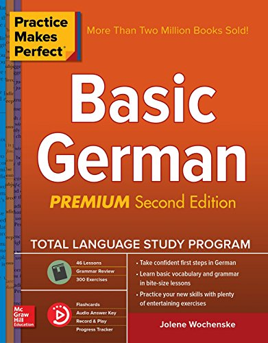 Practice Makes Perfect: Basic German, 2nd Edition Front Cover