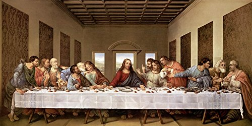 Supper Leonardo Vinci Art inches
