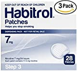 Novartis Habitrol 7mg Nicotine Patches, Step 3. Stop Smoking. 3 boxes of 28 each (84 patches) 7 MG