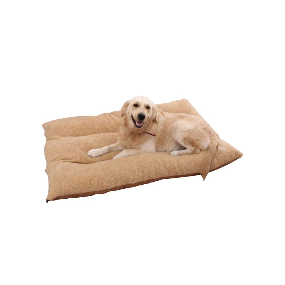 XL Alapet Light Brown Berber Fleece Detachable Cotton Pad, Four Seasons Universal Comfortable Atmospheric Dog Pad, Three-Dimensional High-Elastic PP Cotton Padding, Comfortable and Durable (Size   XL)
