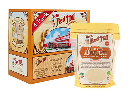Bobs Red Mill Resealable Super-Fine Almond Flour, 16 Oz (4 Pack)