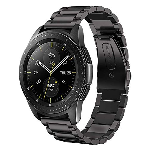 - Minfex Compatible Samsung Galaxy Watch Bands 46mm, 22mm Stainless Steel Replacement Band Accessory Strap Samsung Galaxy Watch SM-R800 Black