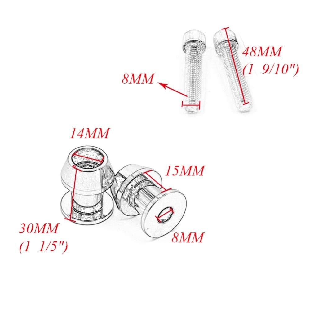 2pcs 8mm Motorcycle CNC Swingarm Swing Arm Spools Sliders For Suzuki GSXR 600 750 1000 Bandit 1200 Hayabusa GSXR1300 GSX1300BK Star-Trade-Inc