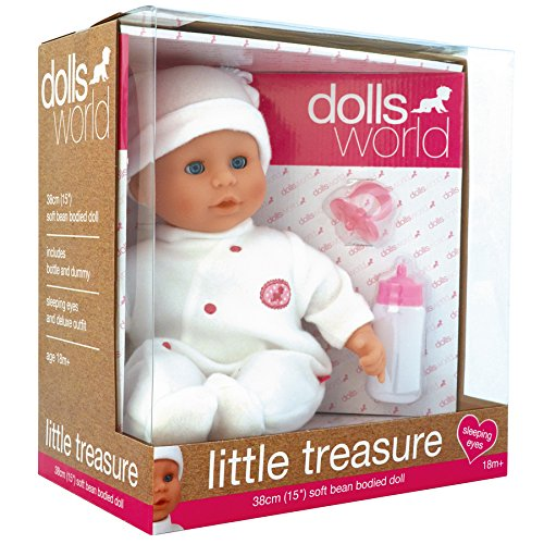 18d5ef3af375 Dolls World 8101 Little Treasure (White): Amazon.co.uk: Toys & Games