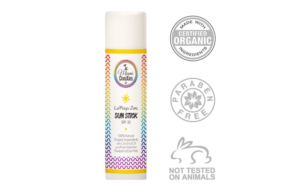 Miami Cool Kids LaPlaya Zinc Organic Sun Stick SPF 30- Kids and Baby Sunscreen SPF 30, Non Nano Zinc Oxide, Natural Childrens Sunscreen by Miami CoolKids