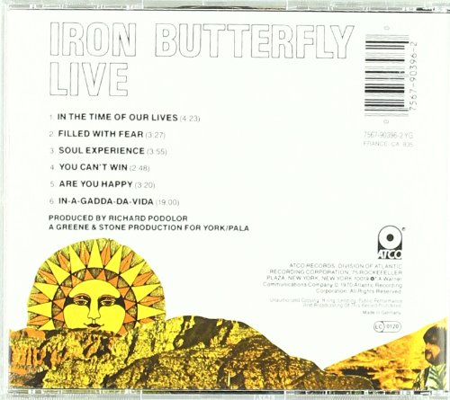 Live: IRON BUTTERFLY
