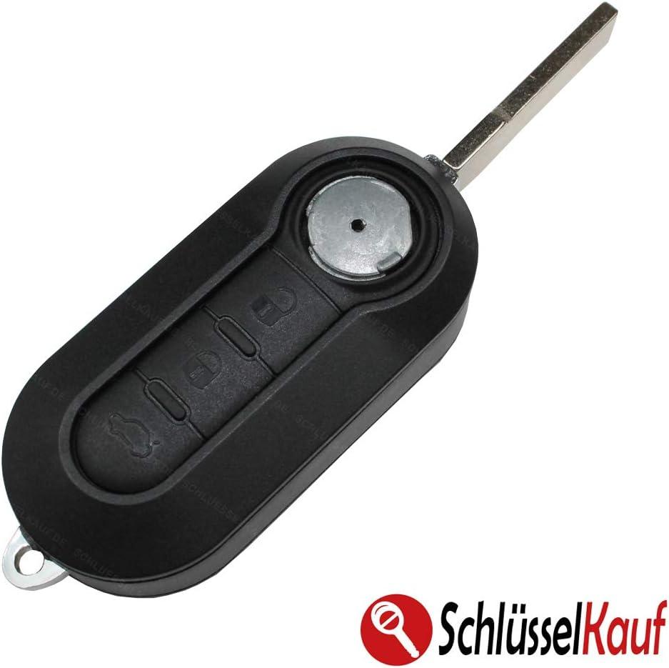CR2032 3V Batterie ab 2011 Schwarz 3 Tasten Klapp Gehaeuse Funkschluessel Autoschluessel Auto Schluessel Fernbedienung Schluesselgehaeuse Ersatzgehaeuse Klappschluessel Gehaeuse Ersatzteile Rohling