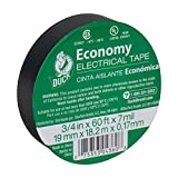 Duck Brand 299006 3/4-Inch by 60 Feet Utility Vinyl Electrical Tape with Single Roll, Black (15)