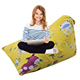 alibalala Toys Bag | Stuffed Animal Storage Bean Bag Chair for Kids, Pure Cotton Stuffed Seat, Only Cover 26'' x 37'' x 22'' /100 L / 26 Gal, Yellow