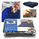 Electric Car Blanket- Heated 12 Volt Fleece Travel Throw for Car and RV-Great for Cold Weather, Tailgating, and Emergency Kits by Stalwart-BLUE