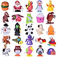 Wind Up Toys 25 PCs Assorted Animal Toys for Halloween Party Favors, Halloween Toys, Goodie Bag, Kids Prizes (More Than 2 Dozen)