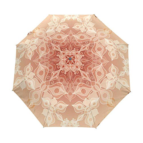 Umbrella Rain Women Full Automatic White Black Floral Guarda Chuva Chinese 3 Folding Anti UV Sun Umbrella sombrilla Playa,Item 6 ()