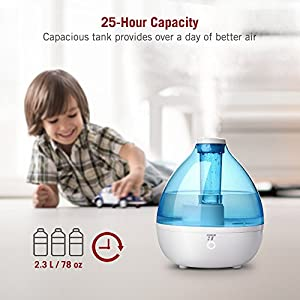 Humidifiers for Bedroom, TaoTronics 2.3L Cool Mist Ultrasonic Humidifier