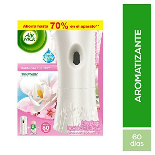 Air Wick Aromatizante Ambiental Freshmatic,  Aparato Eléctrico y Repuesto, Magnolia y Cherry, 250ml