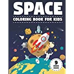 Space Coloring Book for Kids: With Astronauts, Planets, Moons, Space Rockets & Ships. (Activity Book with Bonus Mazes) (Large Size 8.5x11)
