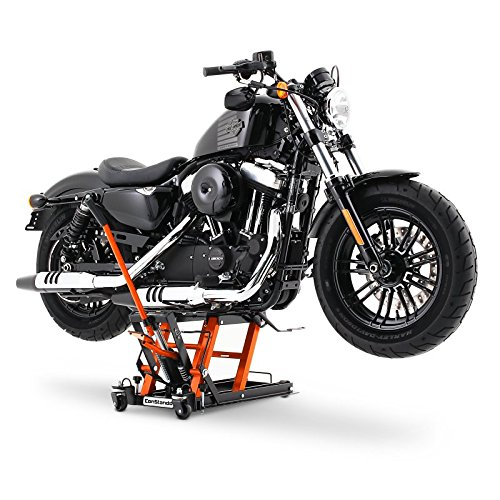 Hydraulique /á Ciseau ConStands Midlift L noir-orange Cric L/ève Moto pour Harley Davidson Sportster Forty-Eight 48 XL 1200 X