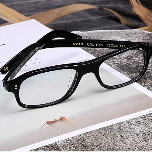 bf119dba39 EyeGlow Eyewear Acetate Eyeglasses Frame With Non-Prescription Clear Lens Men  Women Fashion Classic style