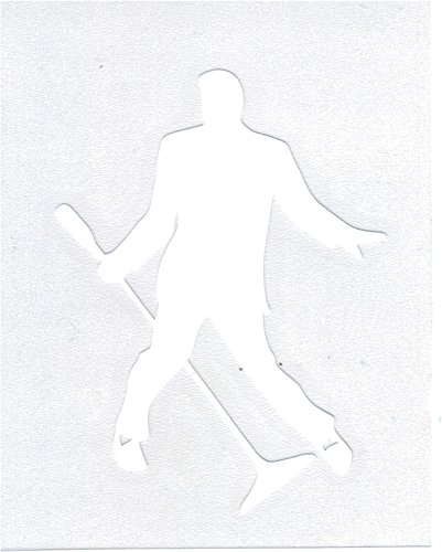 Taylor Specialties Elvis Presley Silhouette Cut-Out Graphic Decal Sticker [White - 4.5