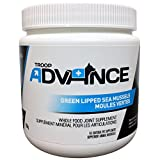 Troop Advance All-Natural New Zealand Green Lipped Mussels is a great Source of Glycosaminoglycan's, Amino Acids, Omega 3, and 6, Nucleic Acids, Selenium, and Zinc, Copper and Manganese, to aid Joint Support, 160g Jar