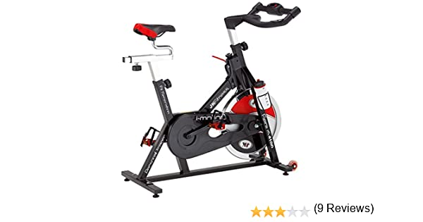 Jk Fitness Genius Spin Bike Transmisión a Cadena, Negro/Rojo ...