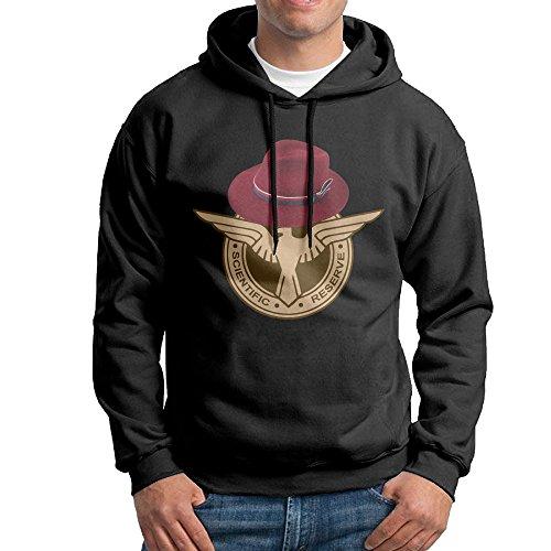 Bekey Men's Agent Carter Logo Pullover Hoodie Sweatshirt L (Agent O Men In Black 3)