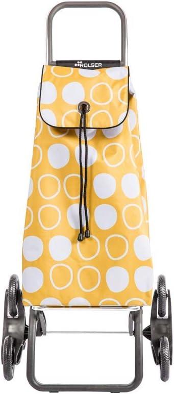 Rolser Carro I-MAX Symbol 6 Ruedas Sube Escaleras Plegable - Amarillo: Amazon.es: Hogar