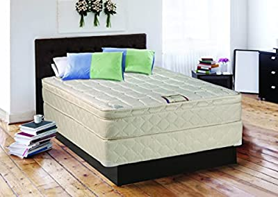 "Continental Sleep 10"" Pillowtop Fully Assembled Othopedic Twin Mattress & Box Spring,Deluxe Collection"