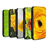 STUFF4 PU Leather Wallet Flip Case/Cover for Apple iPhone X/10 / Multipack Design / Floral Garden Flowers Collection