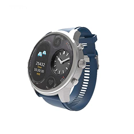 Amazon.com: CCDYLQ Dual Time IPS Smart Watch Mens Heart Rate ...