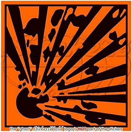 Explosive Explosion Gefahr Symbol Sicherheit Warnung 10 2 Cm 100 Mm Vinyl Aufkleber Aufkleber Garten