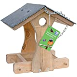 C J New York Slate Roof Hanging Bird Table (One Size) (Brown)