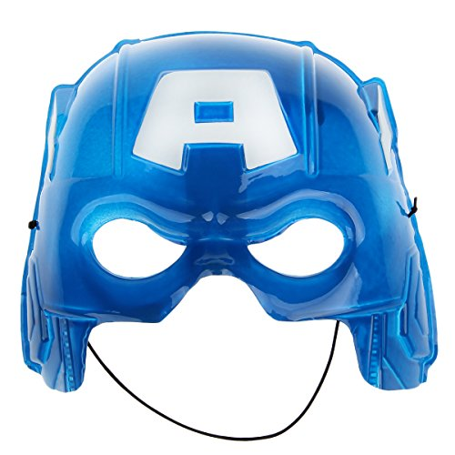 Mask Halloween Cartoon Character Captain Style Half Face - Blue + White