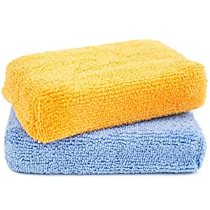 Zwipes Microfiber Kitchen and Bathroom Cleaning Sponges | Wash Dry Dust Polish | 2 Pack