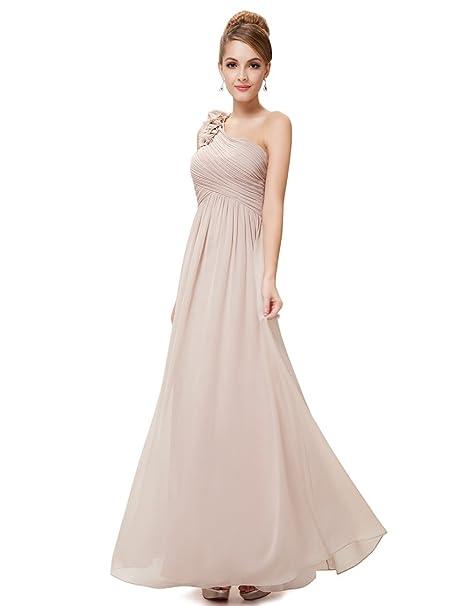 Review Ever Pretty Flower One Shoulder Long Bridesmaids Evening Party Dress 08237
