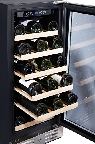 Kalamera 15'' Wine Cooler 30 Bottle Built-in or Freestanding with Stainless Steel & Double-Layer Tempered Glass Door and Temperature Memory Function by Kalamera (Image #3)