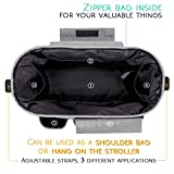 Stroller Organizer, Airlab Parents Organizer Bag, 2 inch Enlarge, Deep Bottle Cup Holder, Extra-Large Storage Space for Baby Accessories, Diapers, iPhone, Wallets, Waterproof
