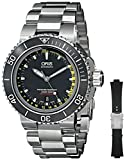 Oris Men's 73376754154SET Analog Display Automatic Self Wind Silver Watch with Extra Black strap