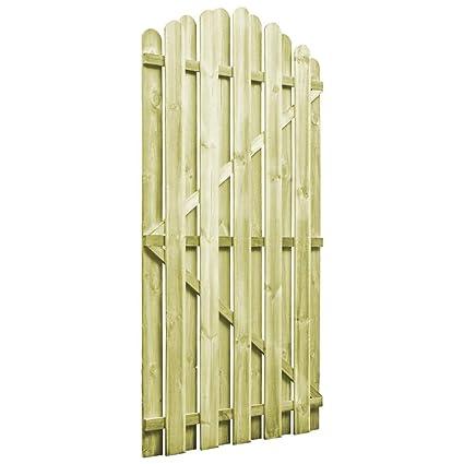 tidyard Portillon de Jardin/Porte de Jardin en Bois de Pin Imprégné Vert  (certifié FSC) Design en Arche 100 x 175 cm
