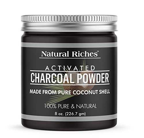 (Natural Riches Activated Charcoal Powder, from 100% Pure Coconut Shells, 8)