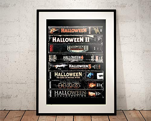 Halloween VHS Cassette Stack. Limited Edition Print. 80s Horror. Michael Myers -