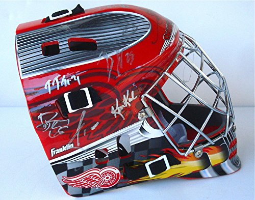 201314-Detroit-Red-Wings-Team-Signed-Goalie-Mask-w-Proof-Autographed-NHL-Helmets-and-Masks