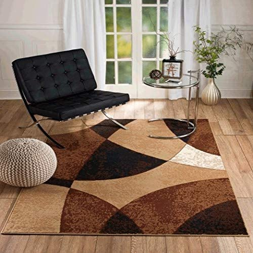 Summit New Chateau S11 Beige Abstract Modern Abstract Style Area Rug 5' X 7' Area Rug