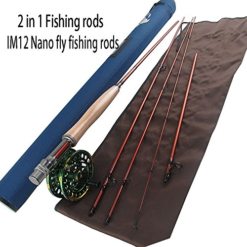 Aventik IM12 Nano 2 in1 Fly fishing rods 9'2'' LW3/4 4pc into 10'6