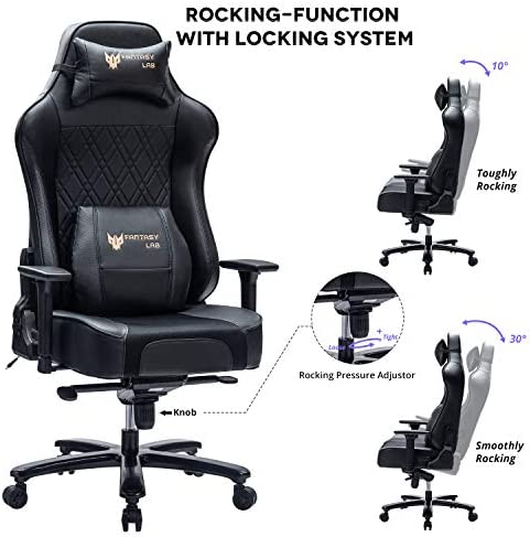 FANTASYLAB 400lb Gaming Chair Big Tall Breathable Office Racing Computer Chair, 3-D Adjustable Armrest Air-Cooling System Heavy Duty Metal Base 51OGI9d8HWL