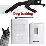 Dog Barking Motion Detector Alarm- Pir Wireless Human Body Sensor Home Security 1Receiver and 1 Sender Waterproof Alert System for Home or Office Auto DialerSeldorauk (Pack of 1)