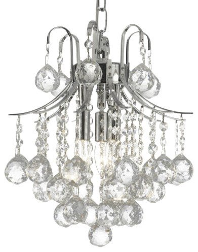 French Empire Crystal Chandelier Chandeliers Lighting Silver H13 X Wd12 3 Lights