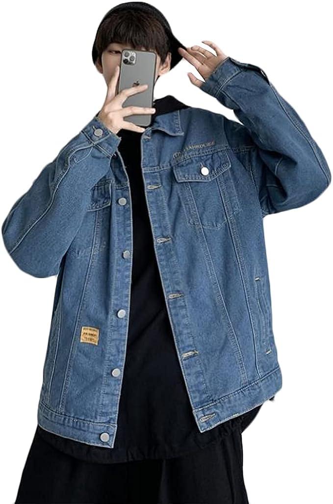 (スーイ)メンズジージャン Gジャン 人気 デニムジャケット ブルゾン デニムアウター 長袖 大きいサイズ カッコイイ ハンサム 春秋 カジュアル ヴィンテージ 通勤 通学 ストリート系 韓国風